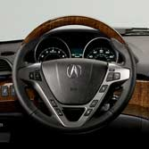 2012 Acura MDX Wood-Grain Steering Wheel